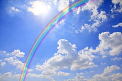 Stock Photo - Blue sky and  sky rainbow Royalty Free Stock Photo