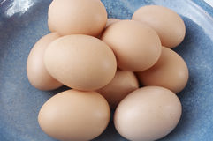 Stock photo of a bowl of eggs. A close-up shot on a bowl of eggs Royalty Free Stock Photo