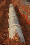 Stock Photo - cement pipeline ditch on the construction site Stock Photography