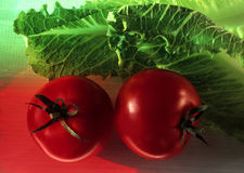 Stock Photo of Cherry Tomatoes and Lettuce Stock Photo