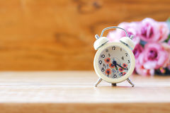 Stock Photo:Classic Alarm Clock - Vintage filter processing sty Royalty Free Stock Photo