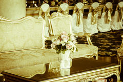 Stock Photo: classical style Armchair sofa couch in vintage roo Royalty Free Stock Image