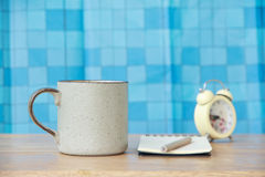 Stock Photo:Coffee cup on wooden table - Vintage effect style Royalty Free Stock Photos