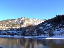 Stock Photo of Colorado Winter Landscape. Colorado Eagle winter landscape with river and snow royalty free stock image
