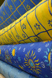 Stock photo of colorful textiles Royalty Free Stock Images