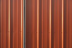 Stock Photo of a Corrugated Metal Red Background Royalty Free Stock Image