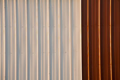 Stock Photo of a Corrugated Metal Red and White Background Royalty Free Stock Photos