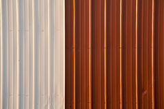 Stock Photo of a Corrugated Metal Red and White Background Royalty Free Stock Photo