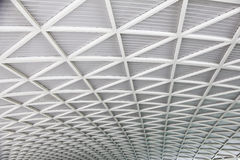 Stock Photo:Curved reinforced steel roof Royalty Free Stock Images