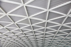 Stock Photo:Curved reinforced steel roof Royalty Free Stock Photo