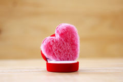 Stock Photo: Cushion of pink heart shape Royalty Free Stock Images