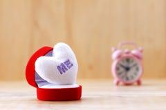 Stock Photo: Cushion of white heart shape Royalty Free Stock Images
