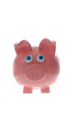 Stock photo of cute pink piggy bank Royalty Free Stock Images