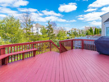 Stock photo of deck. Of residential house Royalty Free Stock Images