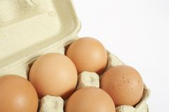 Stock Photo of a  eggs. A box of eggs on a white background Stock Photo