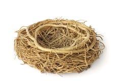 Stock Photo:empty bird nest on white Royalty Free Stock Images