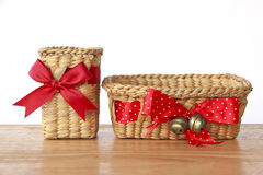 Stock Photo:Empty Gift Baskets on white background Royalty Free Stock Photo
