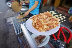 Stock Photo - Ferment Pork Stick. In Hanoi Vietnam 2016 Royalty Free Stock Photos