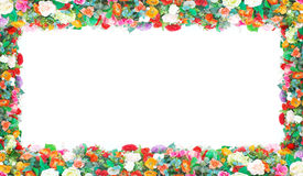 Stock Photo:flowers frame in white background isolated Stock Image