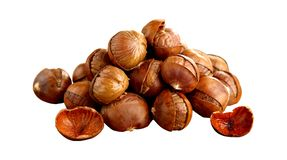 Stock photo fried chestnuts on the street street food roasted chestnuts royalty free stock photography