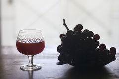Stock Photo:Grape mint soda mocktail with fresh grapes backgrou Royalty Free Stock Photo