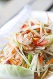 Stock Photo:Green papaya salad Som Tum with shrimp Royalty Free Stock Photography