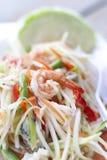 Stock Photo:Green papaya salad Som Tum with shrimp Royalty Free Stock Photos