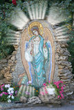 Stock Photo of Guardian Angel. Photo of Guardian Angel mosaic in garden of Russian Orthodox monastery as faith concept Royalty Free Stock Photo
