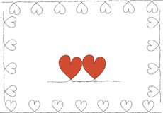 Stock-photo Hand drawn stylish love hearts pattern Stock Images