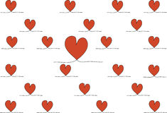 Stock-photo Hand drawn stylish love hearts pattern Royalty Free Stock Image