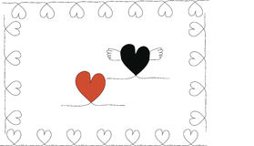 Stock-photo Hand drawn stylish love hearts pattern Royalty Free Stock Photography