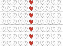 Stock-photo Hand drawn stylish love hearts pattern Royalty Free Stock Photo
