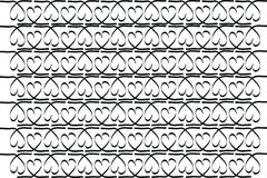 Stock-photo Hand drawn stylish love hearts pattern Stock Photo
