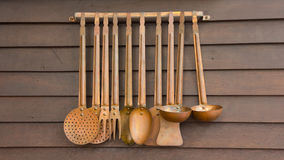 Stock Photo - Hanging utensils for cooking Royalty Free Stock Photo