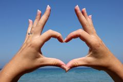 Heart made from hands Royalty Free Stock Photos