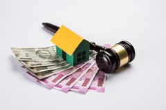 Stock photo of india and real estate law, Indian law for real estate / construction company  / architects / builders or buyers sho Royalty Free Stock Photography