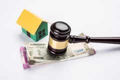 Stock photo of india and real estate law, Indian law for real estate / construction company  / architects / builders or buyers sho Royalty Free Stock Image