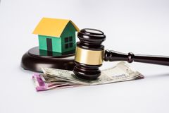 Stock photo of india and real estate law, Indian law for real estate / construction company  / architects / builders or buyers sho Stock Photo