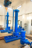 Stock Photo - Industrial electric water pump and pipes Stock Photos