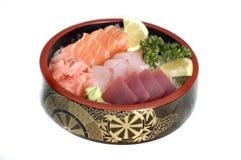 Stock Photo japanese Food, Chi. Japanese Food, Assorted Bowl of  Sashimi- Raw Salmon, Tuna Stock Photos
