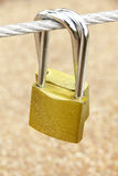 Stock Photo: Locked Golden Padlock Royalty Free Stock Images