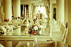 Stock Photo - Luxury Grand Dinning Room & Living Room Stock Photos