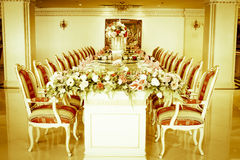 Stock Photo - Luxury Grand Dinning Room & Living Room Stock Images