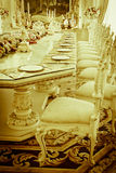 Stock Photo - Luxury Grand Dinning Room & Living Room Stock Image