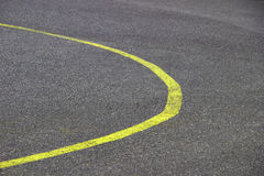 Stock Photo - new curve road yellow line stock photo