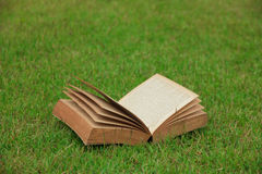 Stock Photo - Open book on nature background Stock Photos