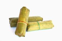 Stock Photo - Packaging of banana leaves for Vietnamese steamed Stock Photo