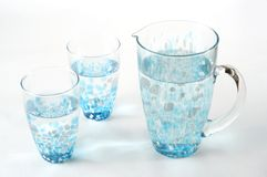 Stock photo of a pitcher and glasses Royalty Free Stock Photos