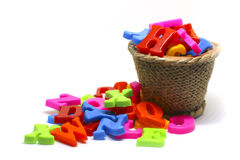 Stock Photo:Plastic alphabet letters Stock Images