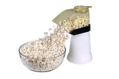 Stock Photo of Popcorn Popper. This is a photo of a poppercorn popper popping corn on white background Royalty Free Stock Photo